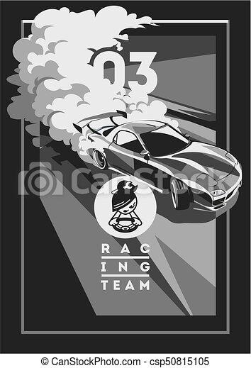 Burnout car, Japanese drift sport, Street racing - csp50815105