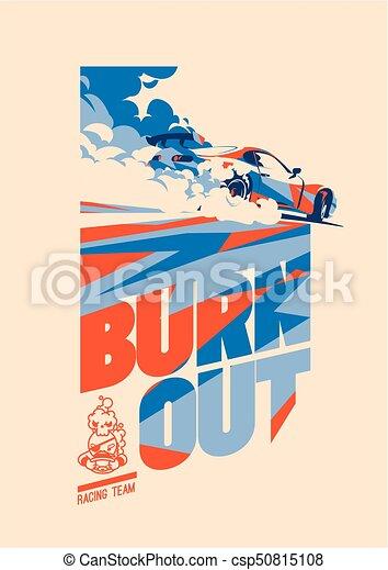 Burnout car, Japanese drift sport, Street racing - csp50815108