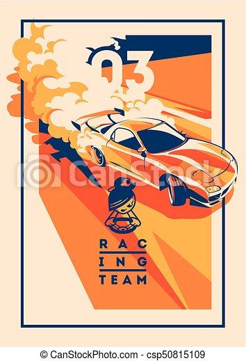 Burnout car, Japanese drift sport, Street racing - csp50815109