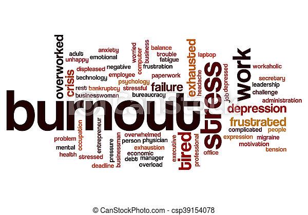 Burnout word cloud concept - csp39154078