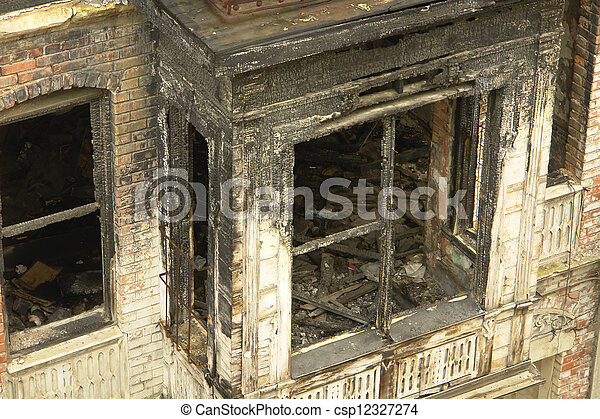 Burnt House - csp12327274