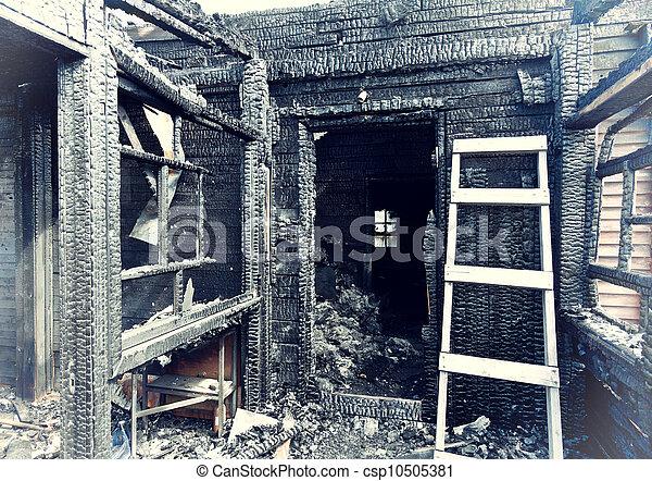 burnt house - csp10505381