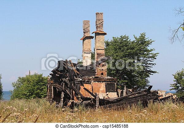 Burnt house - csp15485188