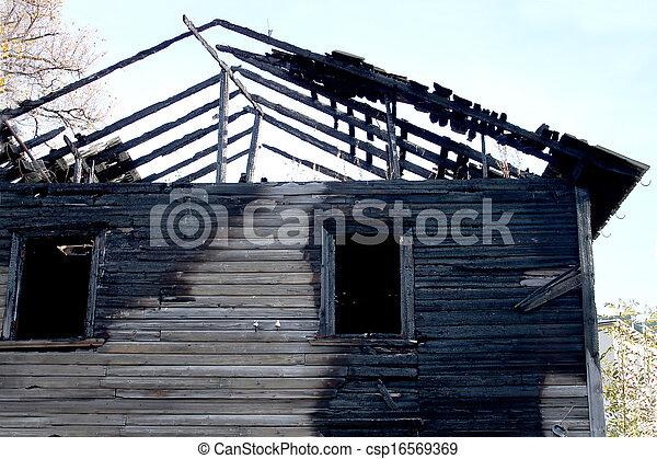 Burnt house - csp16569369