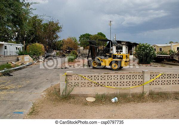 Burnt House - csp0797735