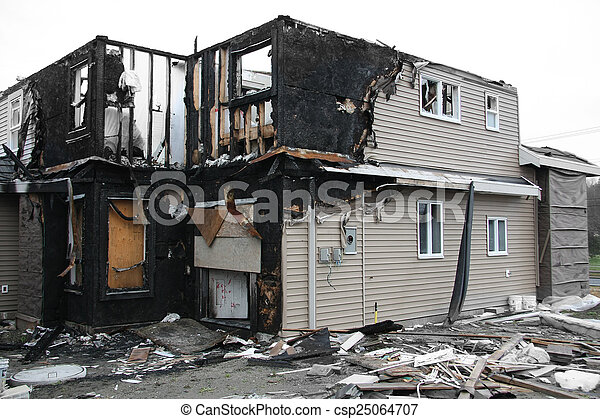 Burnt house - csp25064707