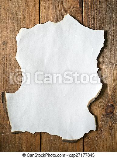burnt paper - csp27177845