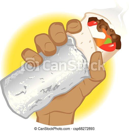 Burrito Hand - csp68272893