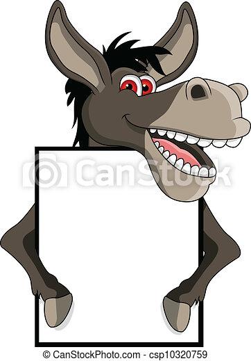 Clip art vectorial de burro blanco caricatura seal  vector