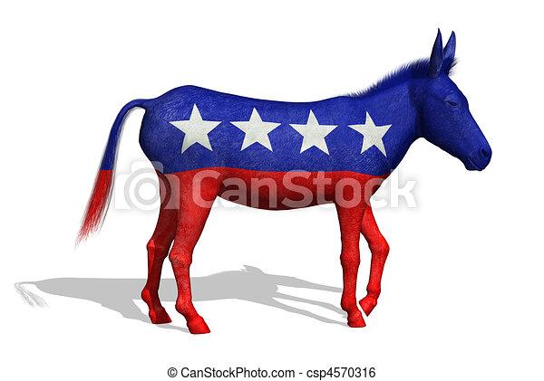 Burro demócrata - csp4570316