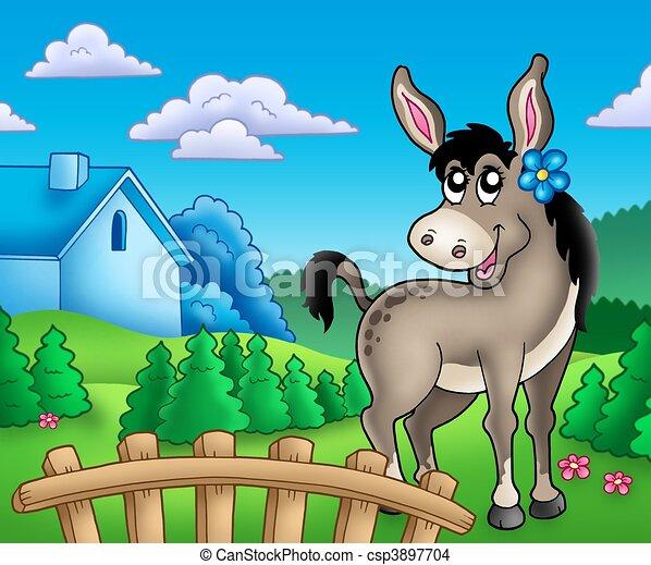 https://comps.canstockphoto.es/burro-flor-detr%C3%A1s-de-la-cerca-dibujo_csp3897704.jpg