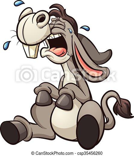 Un burro llorando - csp35456260