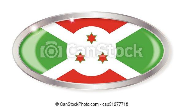 Burundi Flag Oval Button - csp31277718