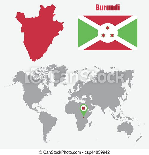 Burundi map on a world map with flag and map pointer vector burundi map on a world map with flag and map pointer vector illustration gumiabroncs Image collections
