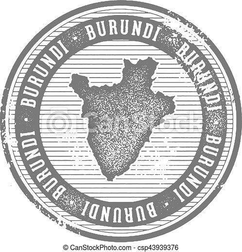 Burundi Vintage Country Stamp for Tourism - csp43939376