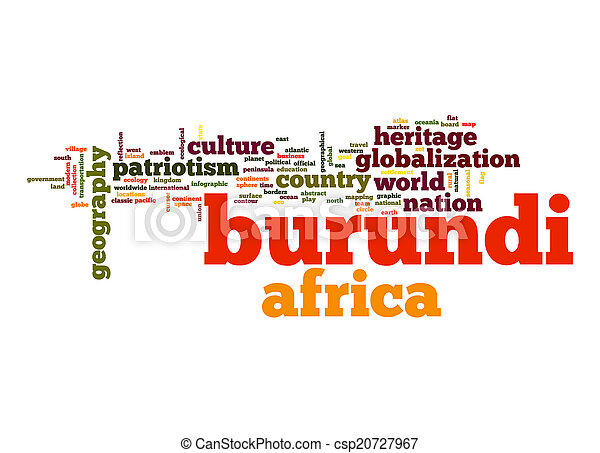 Burundi word cloud - csp20727967