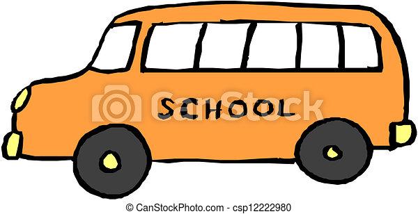 bus., 学校, 黄色 - csp12222980