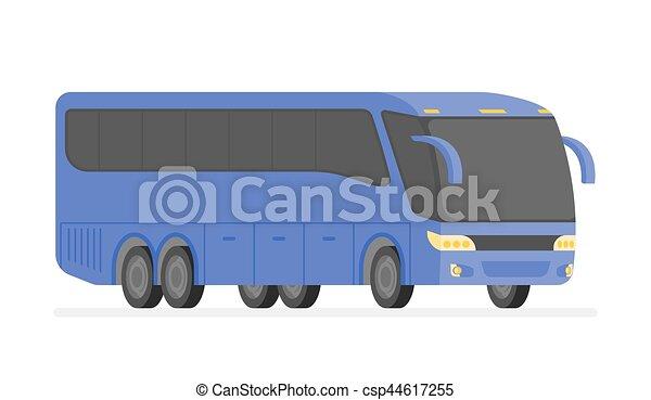 bus, abbildung, vektor, ecke, straße, ansicht - csp44617255