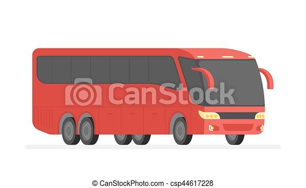 Corner View Bus auf der Road Vektor Illustration - csp44617228