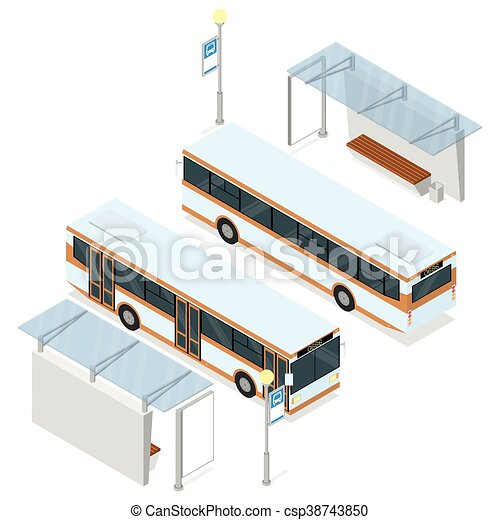 Bus and shelter. - csp38743850