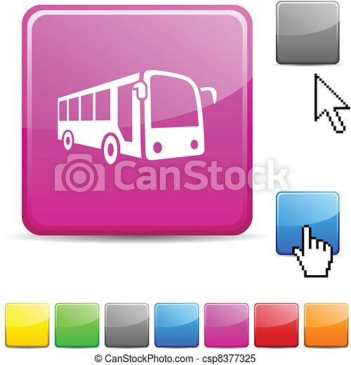 Bus glossy button. - csp8377325