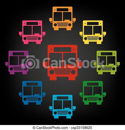 Bus icon set - csp33158620