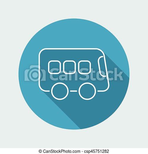 Bus icon - Thin series - csp45751282