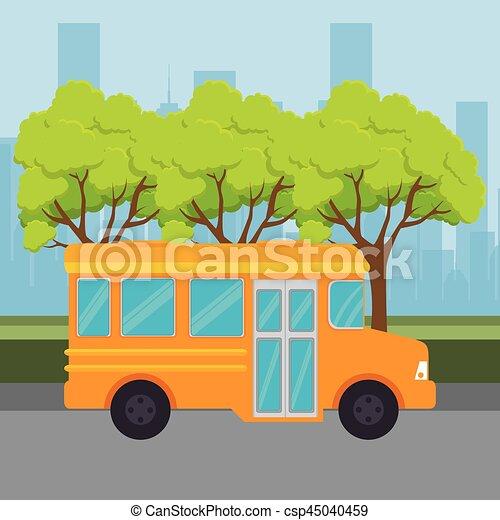 bus public transport icon - csp45040459