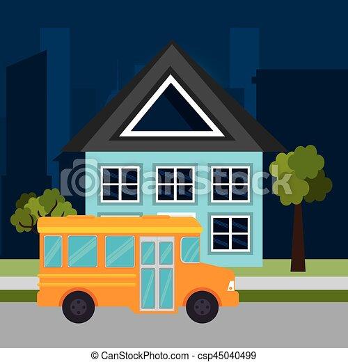 bus public transport icon - csp45040499