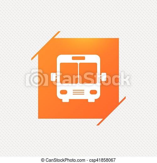 Bus sign icon. Public transport symbol. - csp41858067