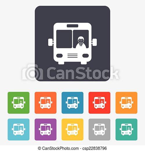 Bus sign icon. Public transport symbol. - csp22838796