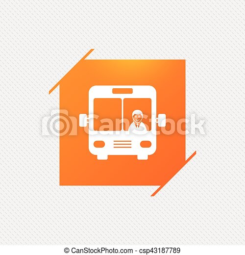 Bus sign icon. Public transport symbol. - csp43187789