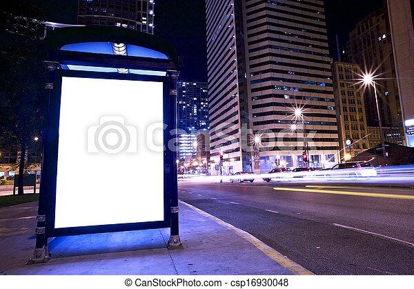 bus stop, inzerát, vystavit - csp16930048