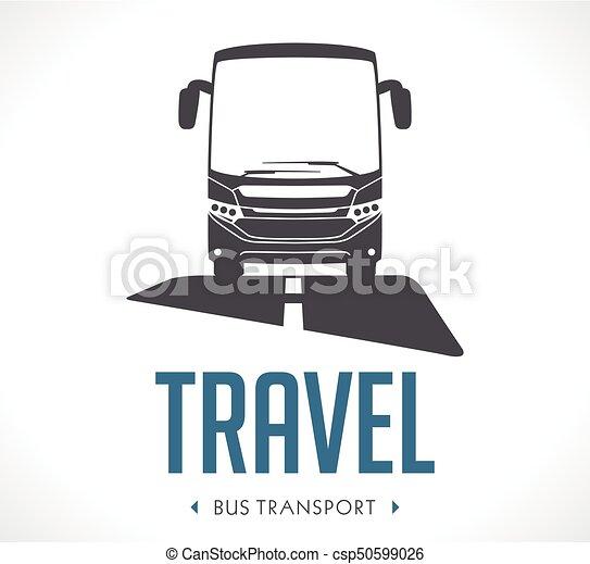 bus transport logo vector illustration