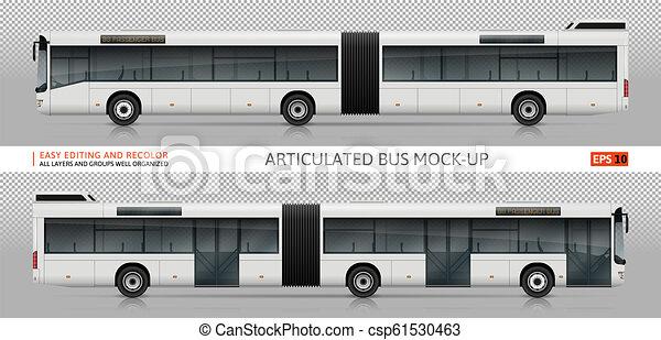 Artikulierter Busvevektor verspottet - csp61530463