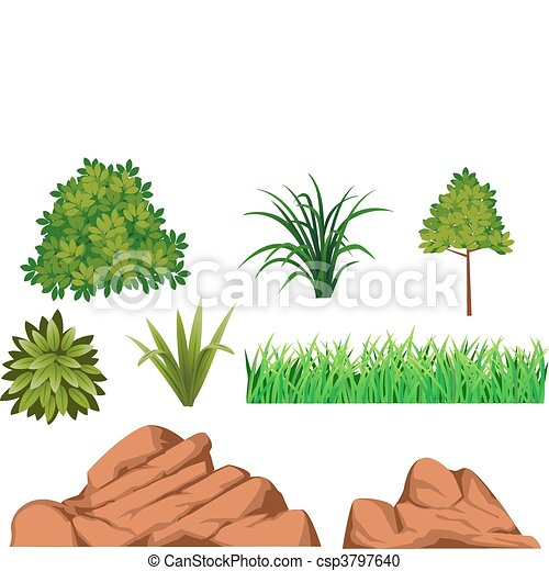 Bush and rock - csp3797640