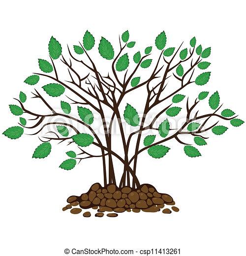 bush with leaves in the soil vector illustration clip art vector rh canstockphoto com clipart soil erosion soil clipart free