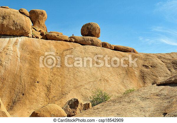 Bushman's paradise at Spitzkoppe, Namibia - csp18542909