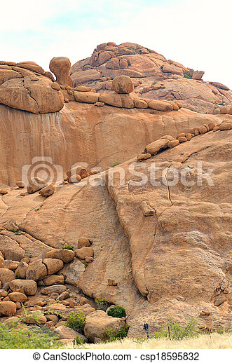 Bushman's paradise at Spitzkoppe, Namibia - csp18595832