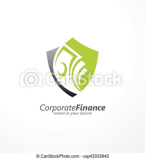 Busines and finance logo design concept