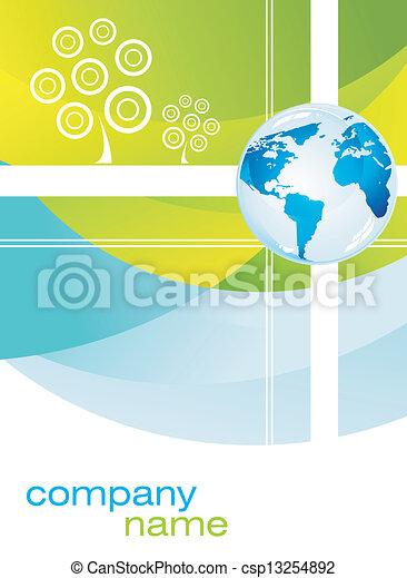 Tarjeta de negocios corporativa - csp13254892