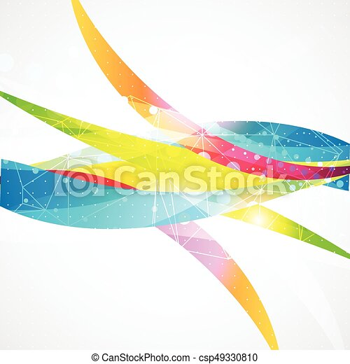 Business abstract wave corporate background. - csp49330810