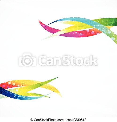 Business abstract wave corporate background. - csp49330813