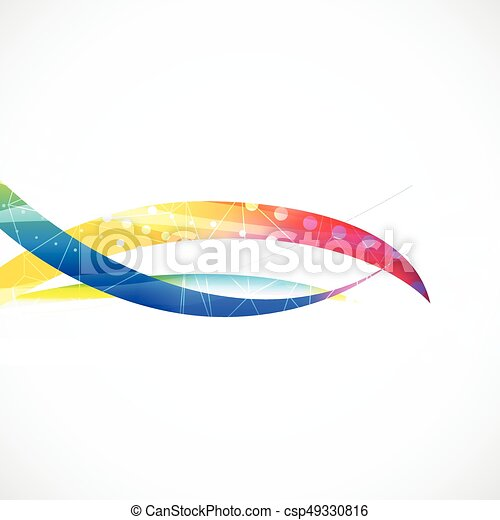 Business abstract wave corporate background. - csp49330816