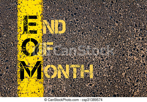 Concept Image Of Business Acronym Eom As End Of Month
