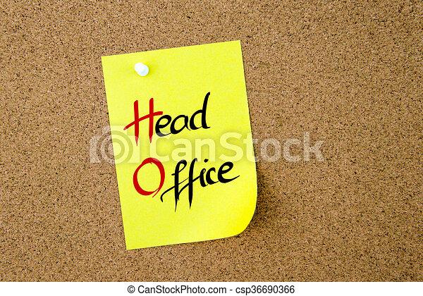 Business Acronym HD Head Office - csp36690366