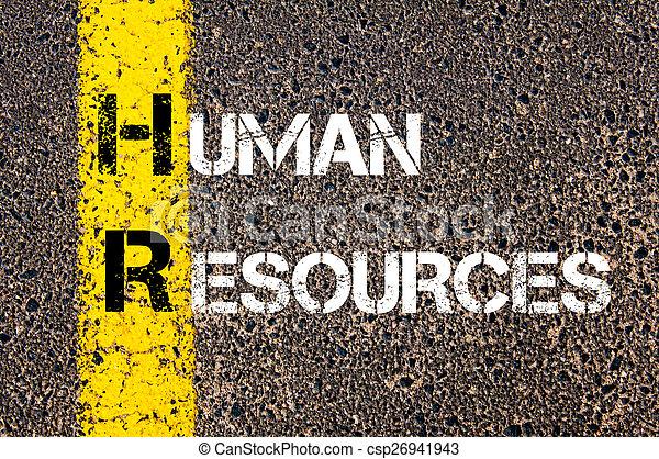 Business Acronym HR  Human Resources - csp26941943