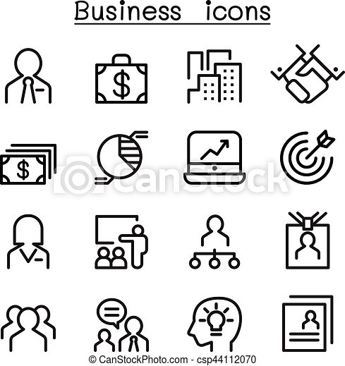 Business Administration Icon Set 44112070