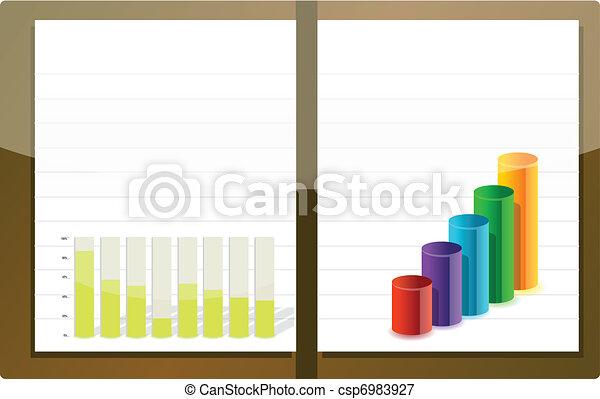 Business agenda illustration design - csp6983927