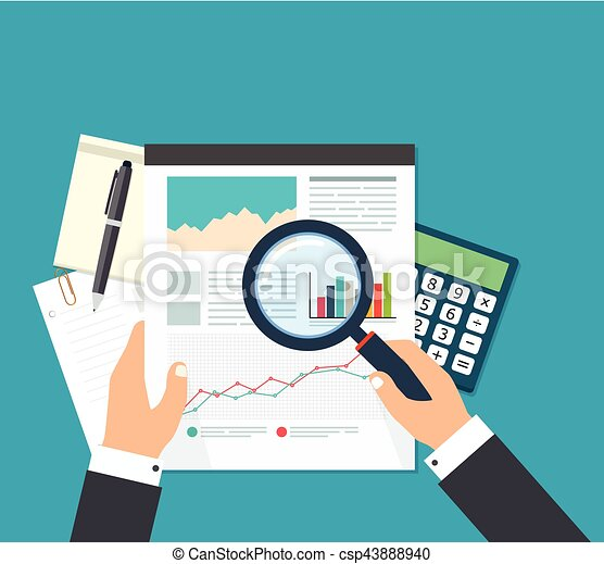 Business Analyst Financial Data Analysis Businessman With  Eps